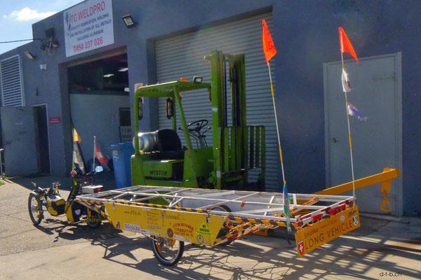 AU: Solatrike bei TC Weldpro für Reparaturen und Ausbesserungen