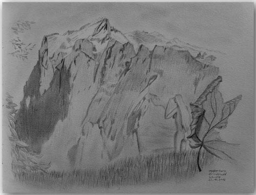 117.Skizze,Wetterhorn,Grindelwald,CH