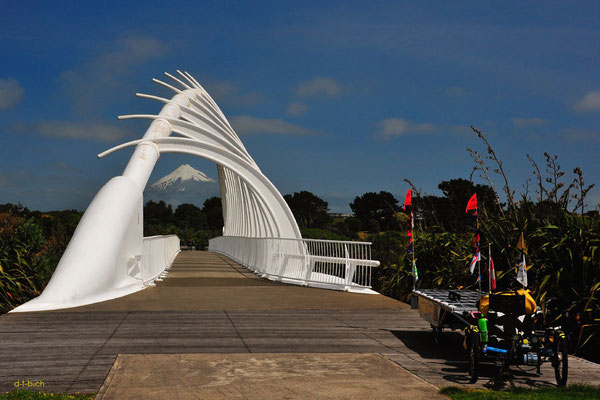 NZ: Solatrike in New Plymouth, Te Rewa Rewa Bridge