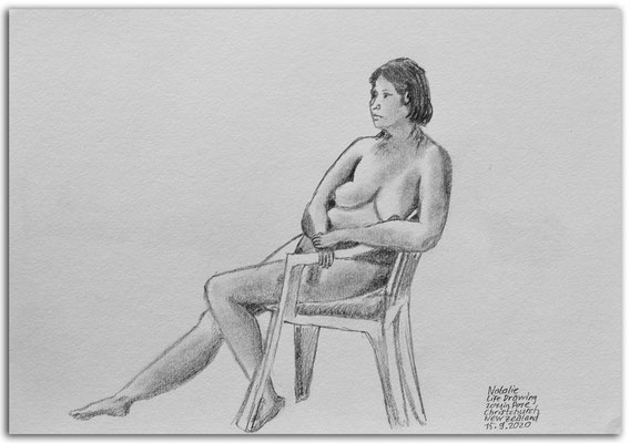 253.Skizze.Life Drawing.Long pose.Natalie.Christchurch.New Zealand