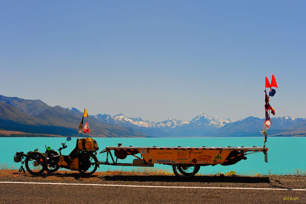 NZ: Solatrike am Lake Pukaki