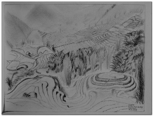186.Skizze.Sapa.Muong Hoa Valley.Vietnam