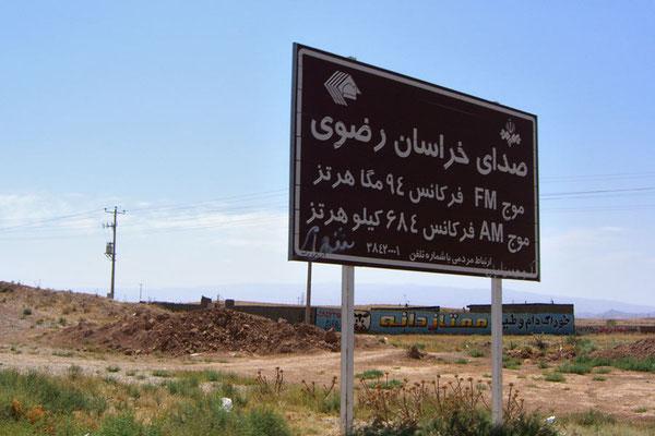 Iran, Strassenschild