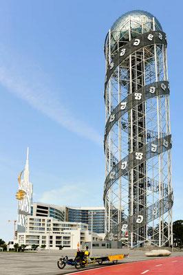 GE: Batumi, Solatrike vor Alphabet-Tower