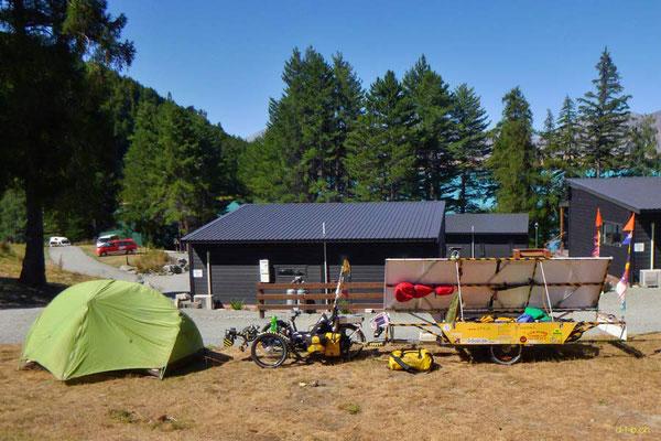 NZ: Solatrike in Lake Tekapo Camping