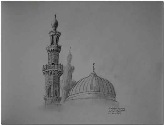 102.Skizze, Al Azhar Moschee, Kairo /Ägypten
