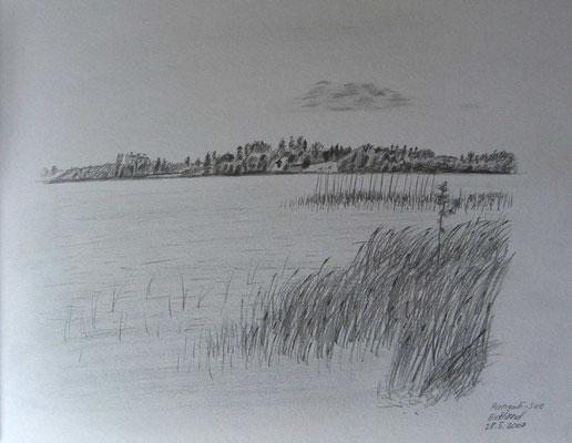 074.Skizze, Pangodi-See /Estland