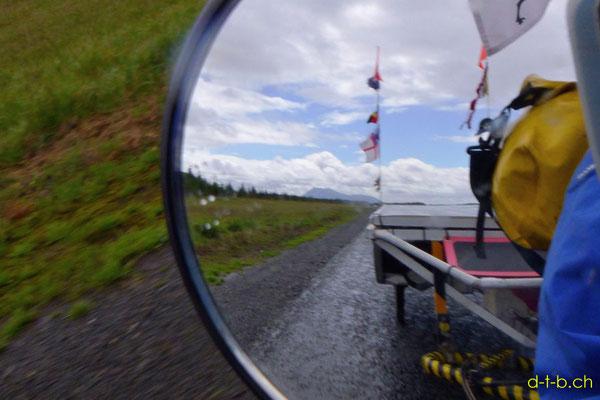 NZ: Mt. Tauhara im Rückspiegel vom Solatrike