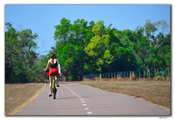 AU0070.Darwin.Eastpoint.Bikelane.Girl on Bike