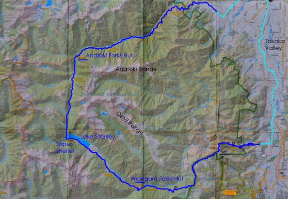 Karte: Anatoki Track
