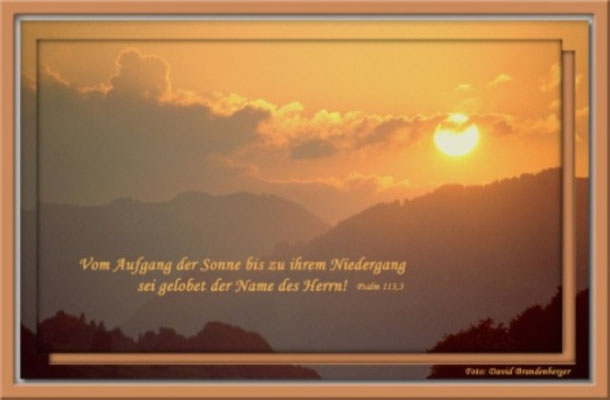 S0042 Sonnenuntergang,Klosters,CH.Psalm 113.3
