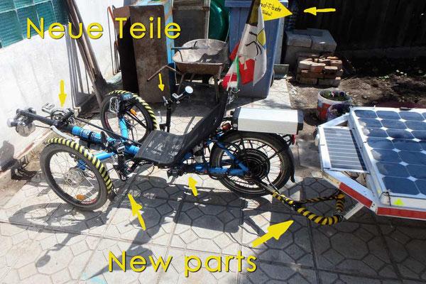 Solatrike. KG.Neue Teile / new parts