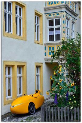 DE171.Rothenburg ob der Tauber.Velomobil