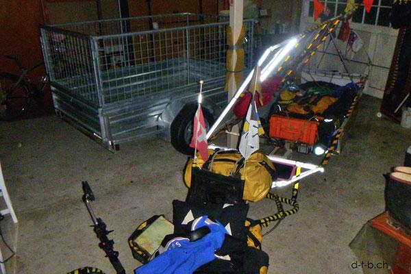 NZ: Solatrike in der Garage bei Konrad und Sabine