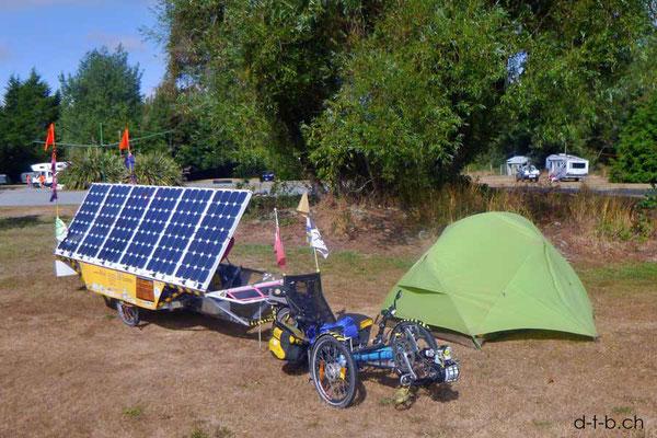 NZ: Solatrike in Glentunnel Camping