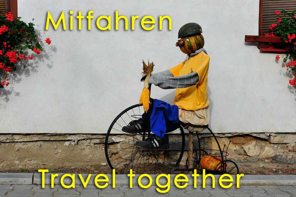 Solatrike, Mitfahren, Travel together