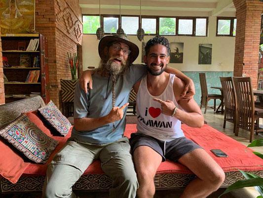 Indonesien.Bali.Ubud.David und Mehdi