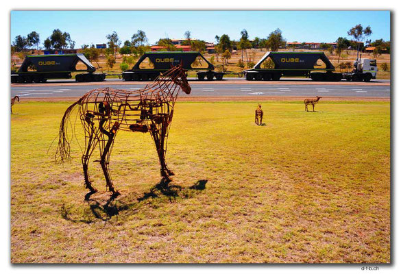 AU0291.Port Hedland,Art Metal Animals