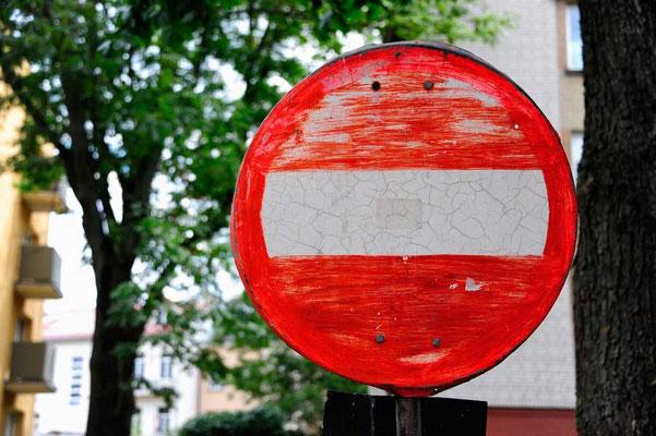 Polen.Bialystok1.gemaltes Schild