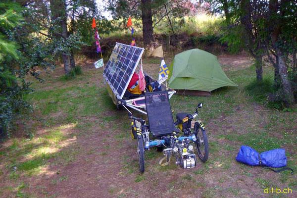 NZ: Solatrike in Tapawera Camping