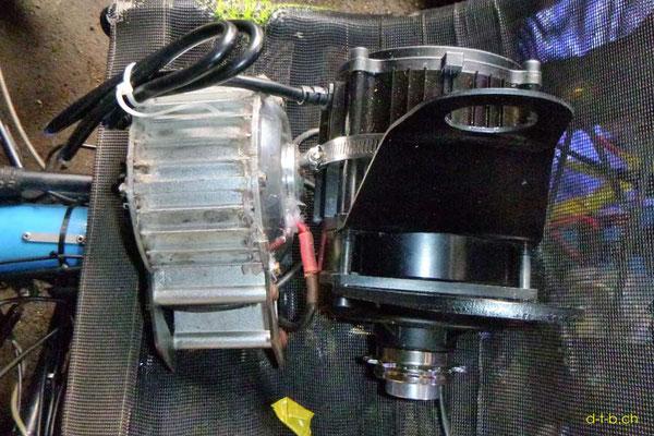 NZ: Solatrike Vergleich vom alten und neuem Vordermotor