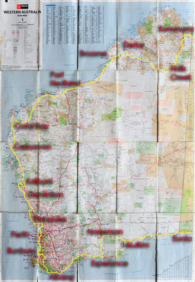 Karte: Western Australia