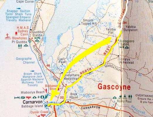 Tag 332: Lake McLeod (Yalobia) Rest Area - Carnarvon