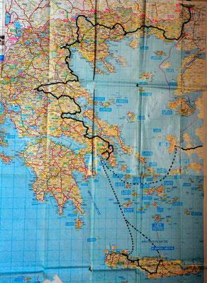 Reisestrecke Griechenland