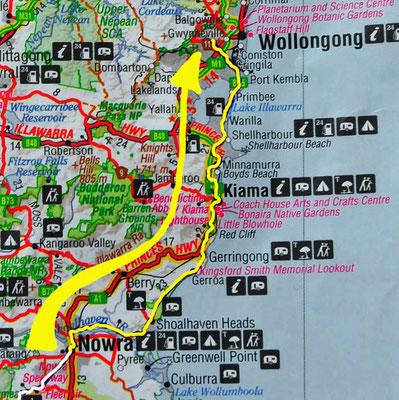 Tag 449: Nowra - Wollongong