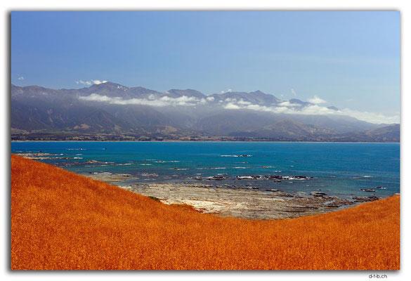 NZ0704.Kaikoura.Peninsula.Sea and Mountains