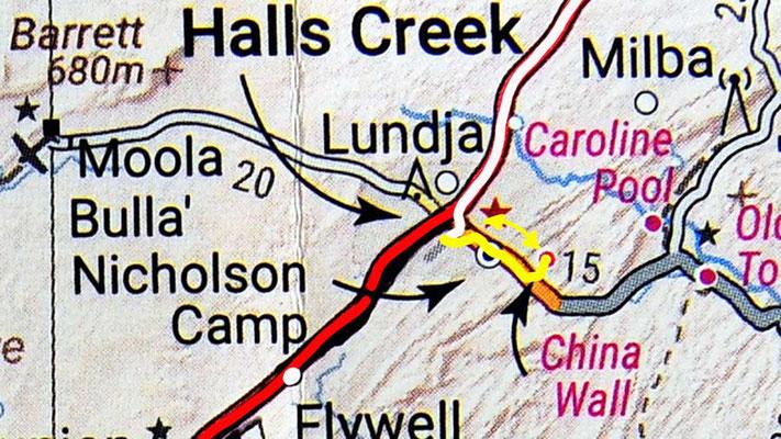Tag 304: Halls Creek - China Wall - Halls Creek