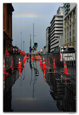 NZ0254.Auckland.Quay Street with Rainbow