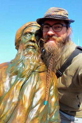 Südkorea, Busan, Songdo Beach. Wer hat den längeren Bart?
