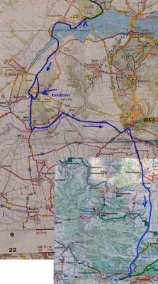 Karte Tag 5: Vodni Dilo - Poysdorf