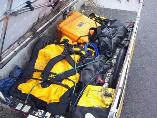 RO: Solatrike mit nassem und dreckigem Gepäck