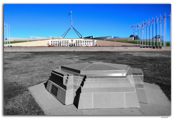 AU1511.Canberra.Parliament and Founding stone