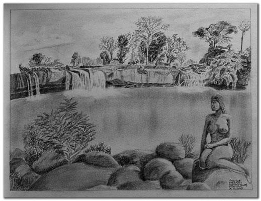 188.Skizze.Dray Sap Wasserfall.Buon Ma Thuot