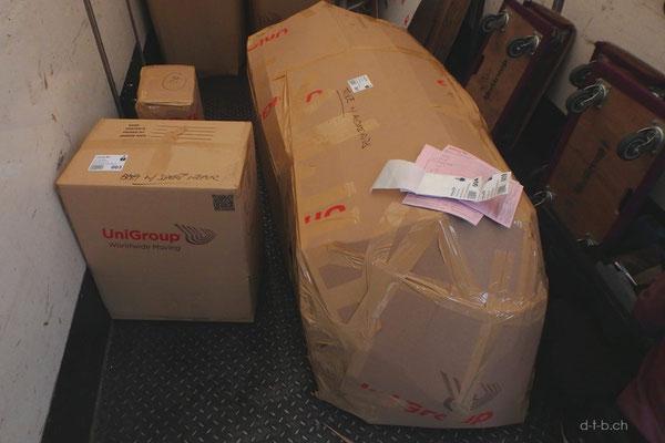 HK: Solatrike und Gepäck ist verpackt