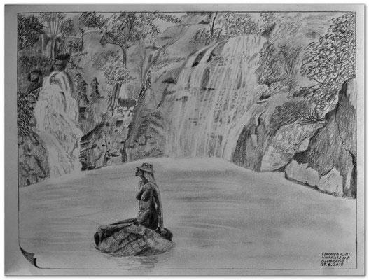 191.Skizze.Litchfield N.P.Florence Falls.Australia