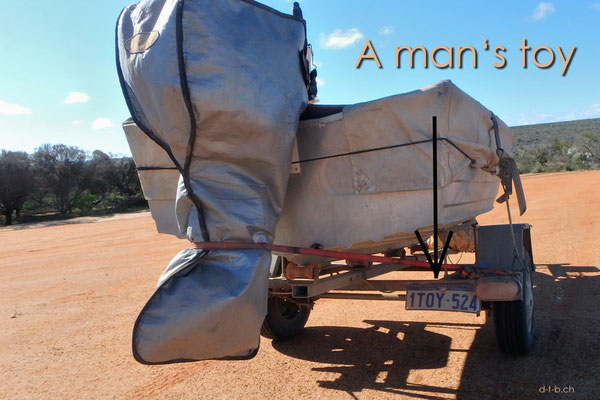 Australien.Kalbarri N.P. A man's Toy