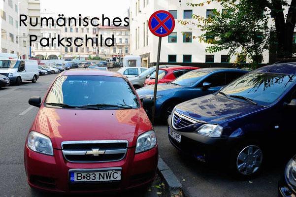Rumänien.Bukarest.Parkschild