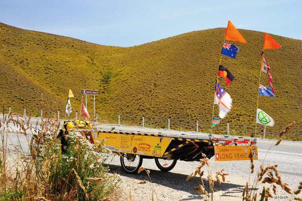 NZ: Solatrike auf Lindis Pass