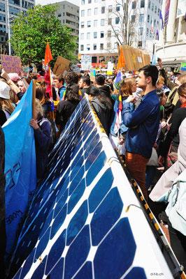 NZ: Solatrike in Auckland beim Schulstreik für das Klima