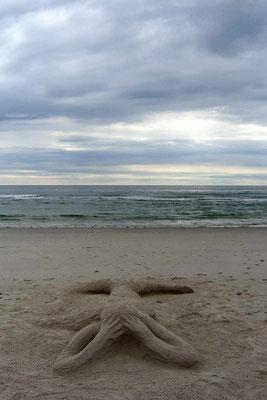 """Sandskulptur """"Nixe"""""""