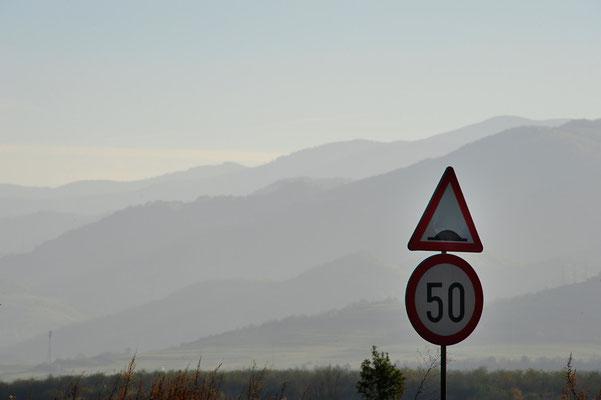 Rumänien.Achtung Hügel