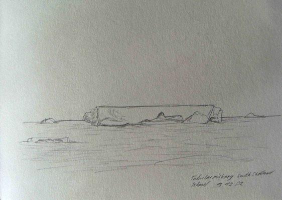 017.Skizze, Tabulareisberg /South Shetland Island
