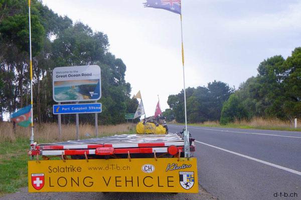 AU: Solatrike beginnt die Great Ocean Road