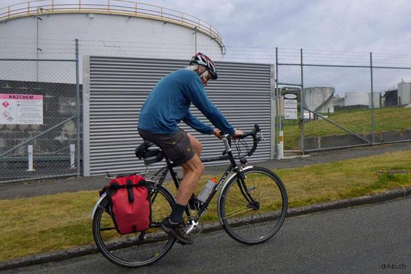 NZ: New Plymouth, kleine Radtour mit Volker