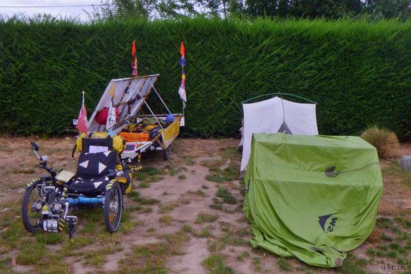 NZ: Solatrike in Twizel Camping