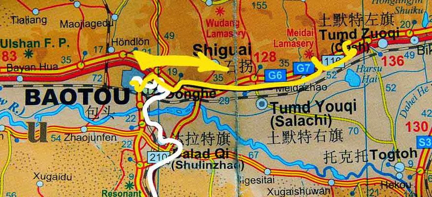 Tag 255: Baotou 包头市 - Tumed Zuoqi 土默特左旗